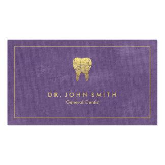 Quadro das canvas roxas & dente dourados - cartão de visita