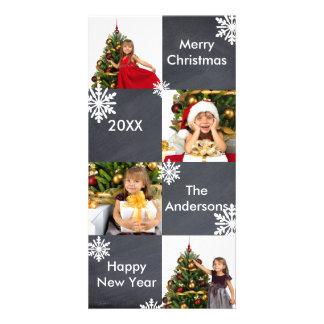 Quadro de 8 quadrados - cartões de foto de Natal Cartão Com Foto