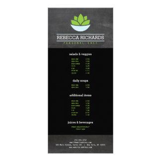 Quadro de abastecimento saudável do menu dos 10.16 x 22.86cm panfleto
