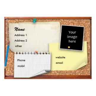 Quadro de anúncios customizável cartão de visita grande
