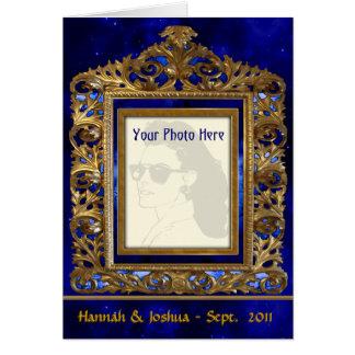 Quadro de bronze ornamentado (cartão com fotos per cartão comemorativo