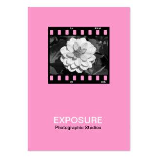 quadro de filme 01 de 35mm - rosa cartoes de visitas