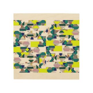 Quadro De Madeira A arte abstracta, imita os tons de África