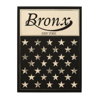 Quadro De Madeira A bandeira americana de Bronx | New York