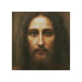 QUADRO DE MADEIRA A CARA SANTAMENTE DO POSTER DEVOCIONAL DE JESUS