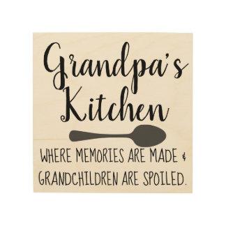 Quadro De Madeira a cozinha do vovô