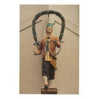 Quadro De Madeira A estátua decora uma construção, Baviera