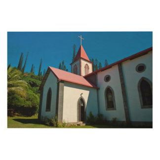 Quadro De Madeira A igreja cristã de Vao