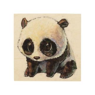 Quadro De Madeira a melhor panda preto e branco bonito e encantador
