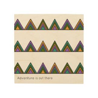Quadro De Madeira A sala dos miúdos - arte da parede - aventura está