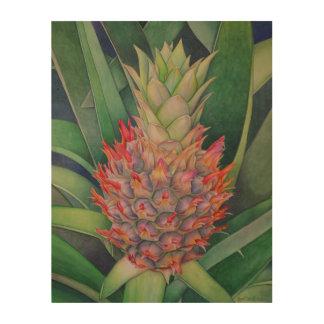 Quadro De Madeira Abacaxi decorativo