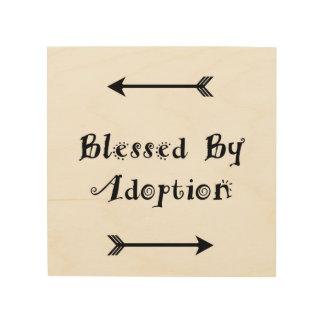 Quadro De Madeira Abençoado pela adopção - assistência social