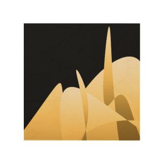 Quadro De Madeira Abstrato do ouro