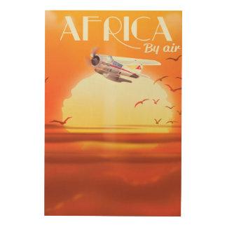 Quadro De Madeira África pelo ar