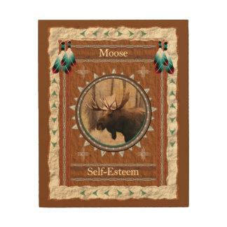 Quadro De Madeira Alces - canvas da madeira do amor-próprio