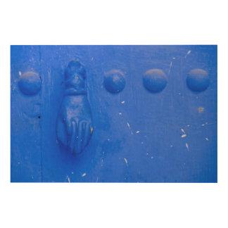 Quadro De Madeira Aldrava de porta azul