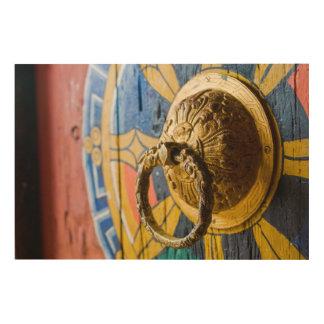 Quadro De Madeira Aldrava de porta colorida