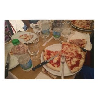 Quadro De Madeira Almoço em Veneza