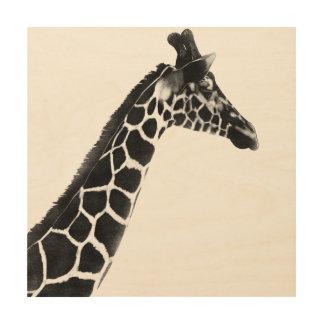 Quadro De Madeira Animais selvagens do girafa das florestas do