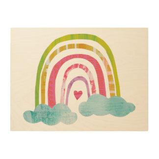 Quadro De Madeira Arco-íris mágico