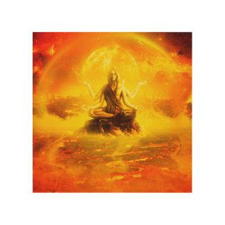 Quadro De Madeira Arte bonita de Shiva Digital na madeira