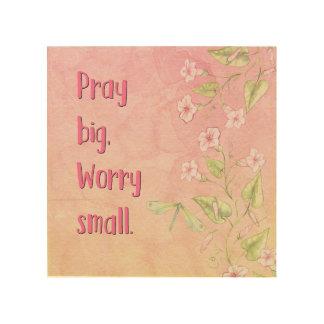 Quadro De Madeira Arte cristã da parede - Pray grande, preocupação