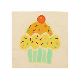 Quadro De Madeira Arte da decoração do cupcake
