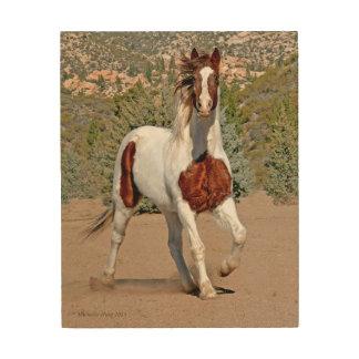 Quadro De Madeira Arte da madeira do cavalo