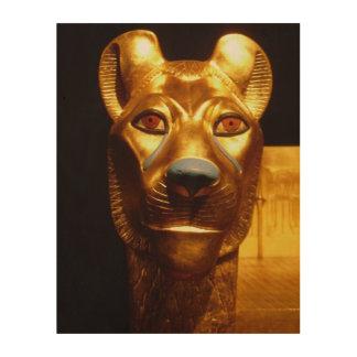 Quadro De Madeira Arte da parede da estátua do gato egípcio
