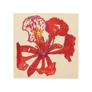 Quadro De Madeira Arte da parede da flor de Poinciana