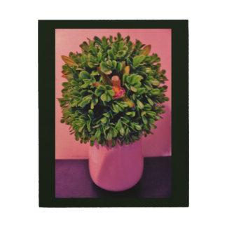Quadro De Madeira Arte da planta