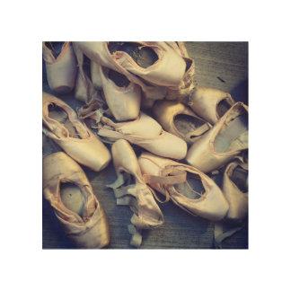 Quadro De Madeira Arte de madeira 8x8 dos calçados de Pointe