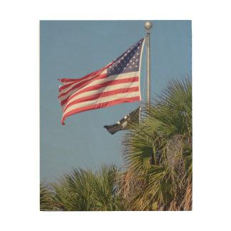 Quadro De Madeira Arte de madeira da parede da bandeira americana