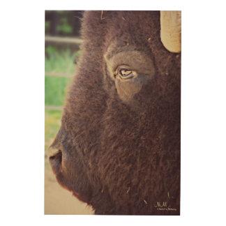 Quadro De Madeira Arte de madeira da parede do bisonte