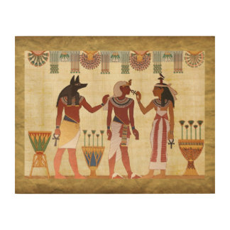 Quadro De Madeira Arte egípcia da parede da mulher do homem do