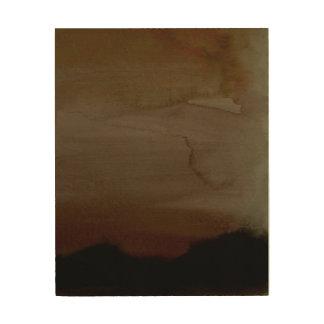 Quadro De Madeira Arte enevoada da parede do abstrato da manhã