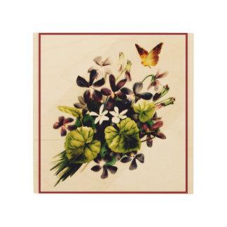 Quadro De Madeira Arte floral da parede da cena do país do estilo do