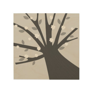 Quadro De Madeira Árvore desenhado mão na madeira