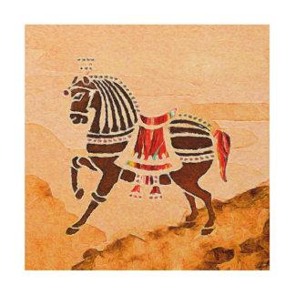 Quadro De Madeira As almas do cavalo   da velocidade   |