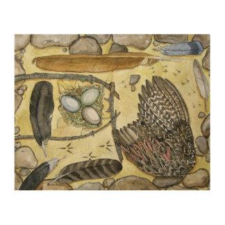 Quadro De Madeira Asas - impressas na madeira