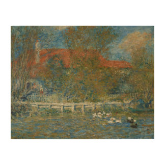Quadro De Madeira Auguste Renoir - a lagoa do pato