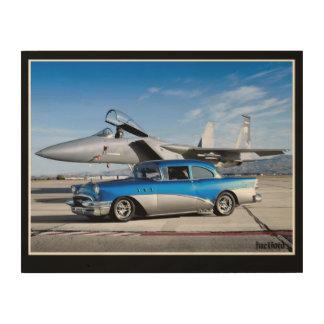 Quadro De Madeira Avião de combate 1955 clássico especial do carro