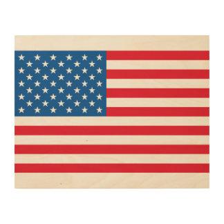 Quadro De Madeira Bandeira dos Estados Unidos da bandeira dos EUA