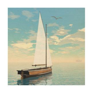 Quadro De Madeira Barco de navigação - 3D rendem
