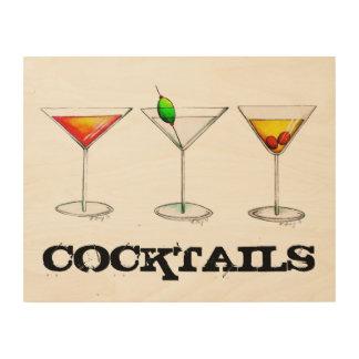 Quadro De Madeira Bebida da cozinha do bar de Cosmo Martini
