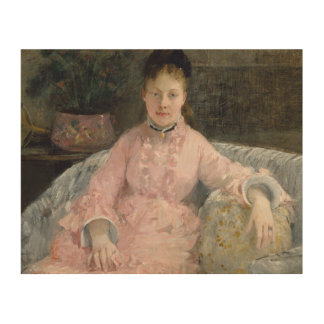 Quadro De Madeira Berthe Morisot - o vestido cor-de-rosa