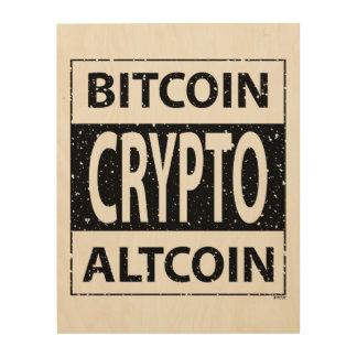 Quadro De Madeira Bitcoin Altcoin cripto