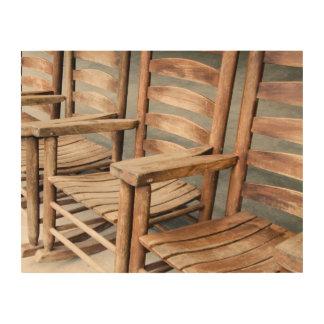 Quadro De Madeira Cadeiras de balanço de madeira rústicas