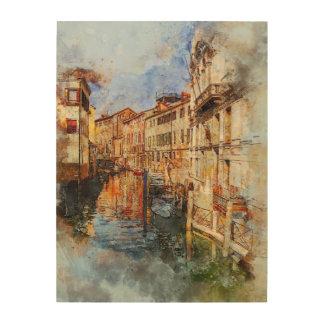 Quadro De Madeira Canal Italia de Veneza