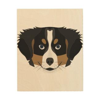 Quadro De Madeira Cão de montanha de Bernese da ilustração